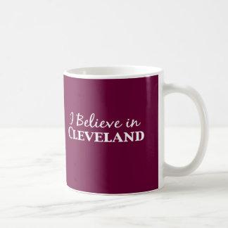 Taza De Café Creo en los regalos de Cleveland