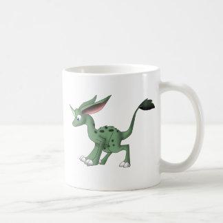 Taza De Café Criatura indefinida con el cuerno del unicornio