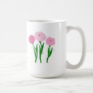 Taza De Café Crisantemos rosados