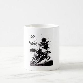 Taza de café CRUZADA de MOTO