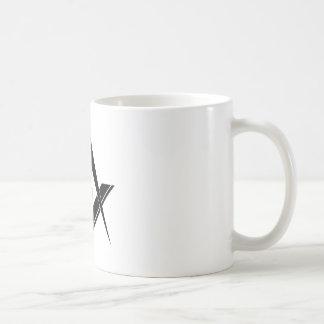 Taza De Café Cuadrado y compás modernos