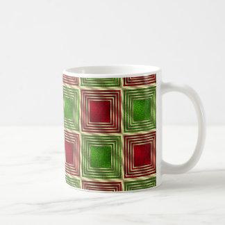 Taza De Café Cuadrados festivos brillantes