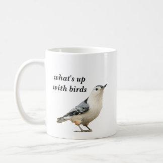 Taza De Café cuál está para arriba con los pájaros