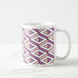 Taza De Café cuarzo color de rosa de la geometría 3d