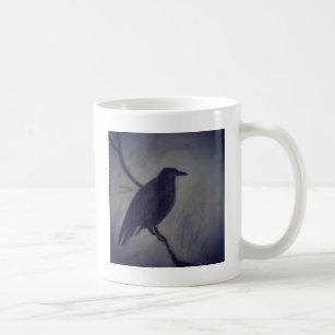 Taza De Café cuervo del invierno