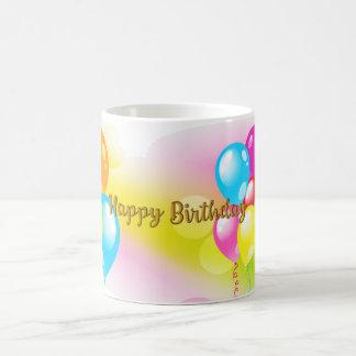Taza De Café Cumpleaños colorido