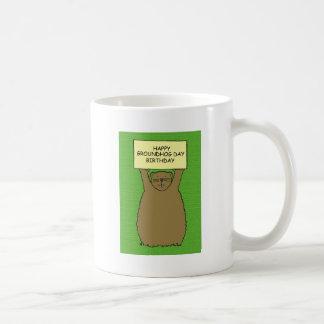 Taza De Café Cumpleaños del día de la marmota