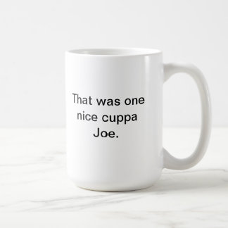Taza De Café Cuppa Joe