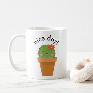 Taza De Café cute cactus mug, nice day mug