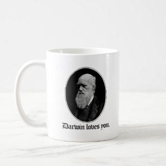 Taza De Café Darwin le ama - evolución del equipo - -