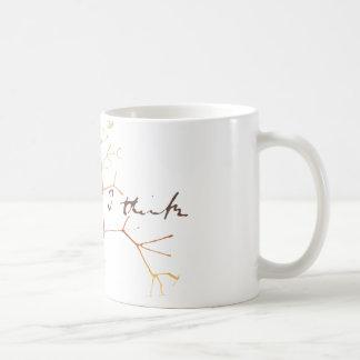 Taza De Café Darwin, pienso el árbol en vida