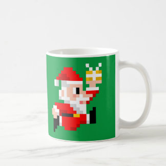 taza de café de 8 bits del navidad de Papá Noel