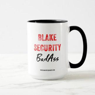 Taza de café de BadAss de la seguridad de Blake