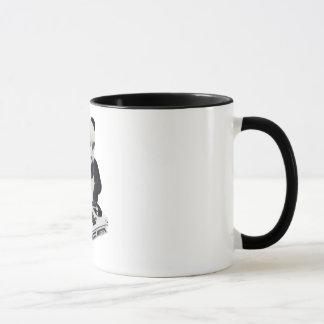 Taza de café de Bling Bling de la panda de DJ