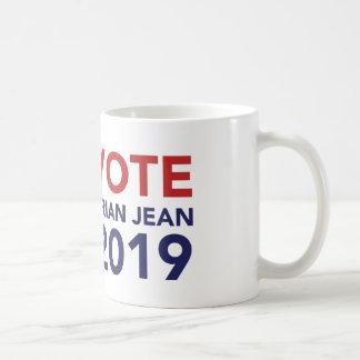 Taza de café de Brian Jean del voto