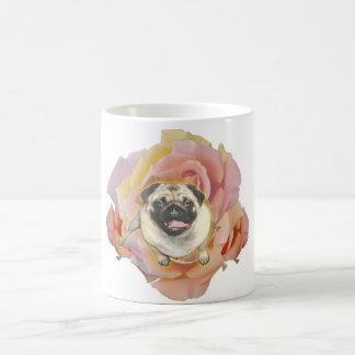 Taza de café de cerámica de PugFlower