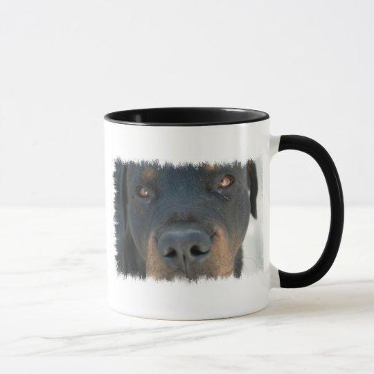 Taza de café de cerámica de Rottweiler