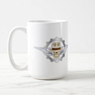 Taza de café de Dieselpunk del cráneo de Fedora
