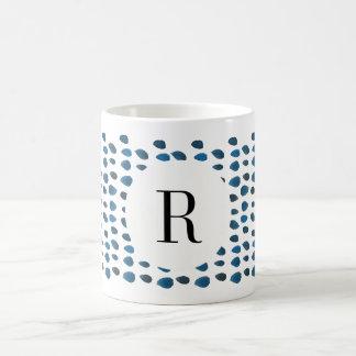 Taza de café de encargo de la acuarela de la