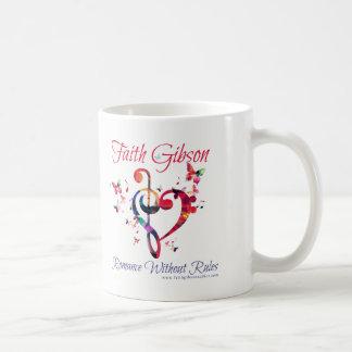 Taza de café de Gibson de la fe