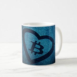 Taza de café de I <3 Bitcoin