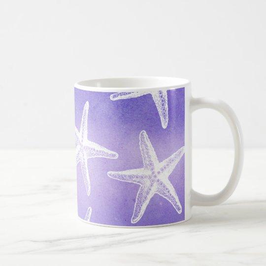 Taza de café de la acuarela - púrpura de las