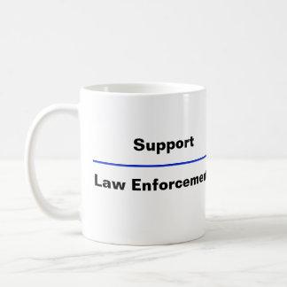 """Taza de café de la aplicación de ley de """"Blue Line"""