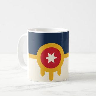 Taza de café de la bandera de Tulsa