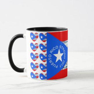 Taza de café de la bandera del huracán fuerte de