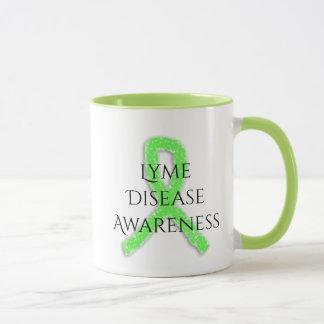Taza de café de la cinta de la conciencia de la