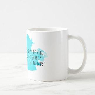 Taza de café de la cita del Atticus: Tarde, en