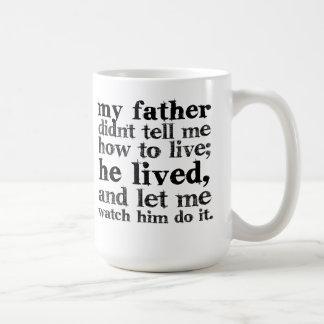 Taza de café de la cita del padre