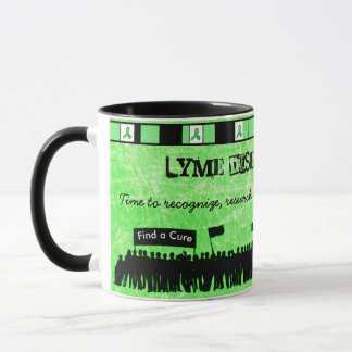 Taza de café de la conciencia de la enfermedad de