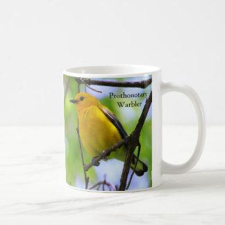 Taza de café de la curruca del protonotario