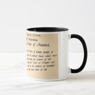 Taza de café de la Declaración de Independencia