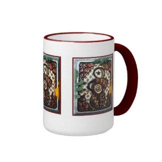 Taza de café de la diosa de la alheña Dibujo orig