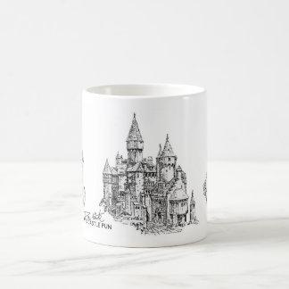 Taza de café de la diversión del castillo de la