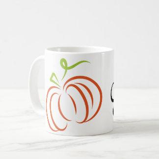 Taza de café de la especia de la calabaza