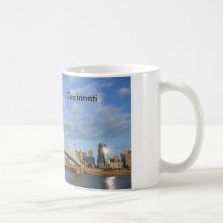 Taza de café de la foto de Cincinnati del puente