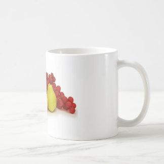 Taza de café de la fruta