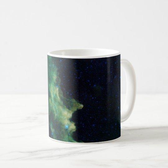 Taza de café de la galaxia del espacio