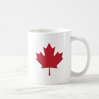 Taza de café de la hoja de arce de Canadá