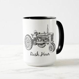 Taza de café de la hora punta
