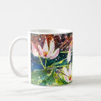 Taza de café de la impresión de la acuarela de la