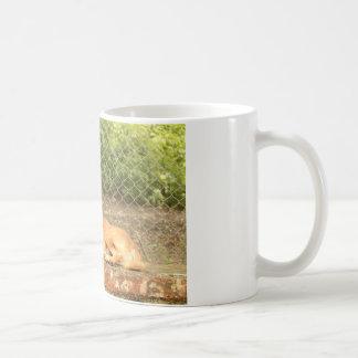 Taza de café de la impresión del perro