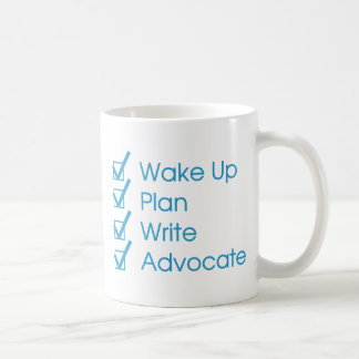 Taza de café de la lista de control