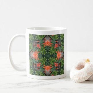 Taza de café de la mandala de la selva