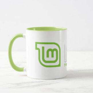 Taza de café de la menta de Linux