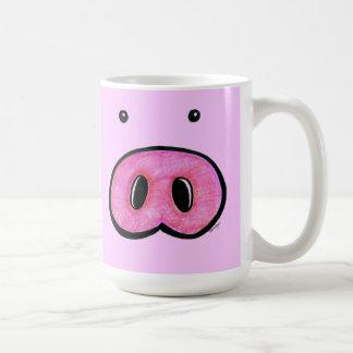 Taza de café de la nariz del cerdo