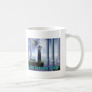 Taza de café de la opinión de Gaia Scenics